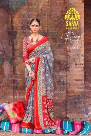 Sasya Raaga 2 Pure Mal Mal Cotton Casual Wear Saree