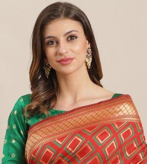 Ganga 2 Silk Blend Festive Wear Saree