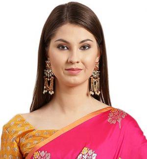 Urvisha Silk Festive Wear silk Blend Saree