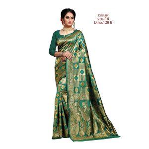 Koslin 16 Banarasi Silk Rich Pallu Saree