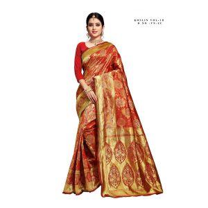 Koslin 18 Banarasi Silk Rich Pallu Saree