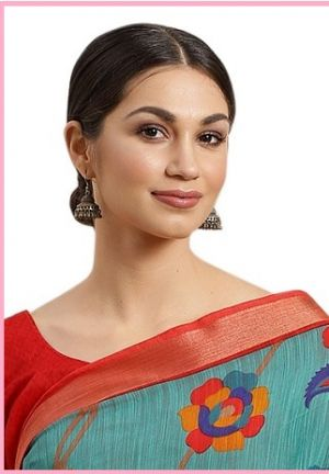 Rutvika Cotton Silk Printed Saree Collection