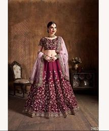 Cultural Lehenga 7402 Wedding Wear Silk Heavy Lehenga Single