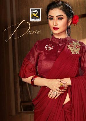 Ranjana Dare Party Wear Lycra Saree Collection