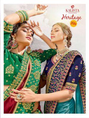 Kalista Heritage Hits Festive Wear Embroidered Saree Wholesaler