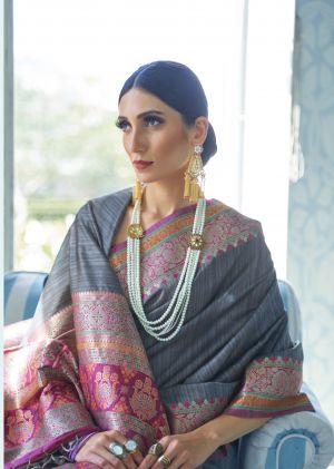 Rajtex Katariya Silk Festive Wear Tussar Silk Saree Collection