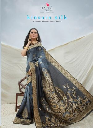 Rajtex Kinaara Silk Handloom Weaving Silk Festive Wear Saree