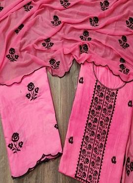 Queen Designer Suits 1 Pure Cotton Designer Dress Material
