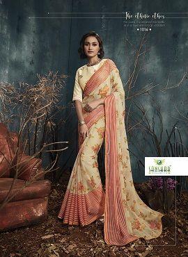Sanskar Kanghan 2 Chiffon Printed Casual Wear Saree Collection
