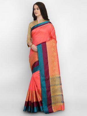Rajnandani Silk Casual Wear Silk Blend Crystal Saree