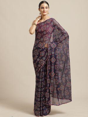 Manan Casual Wear Chiffon Printed Saree Collection
