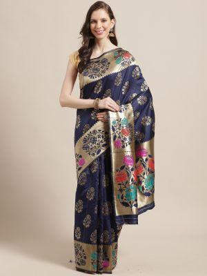 Aleena Silk Festive Wear Silk Blend Banarasi Saree Collection