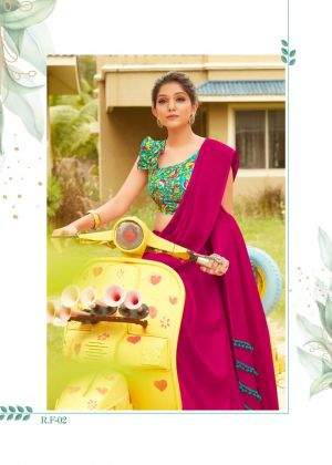 Repid Fire Casual Wear Linen Based Saree Collection