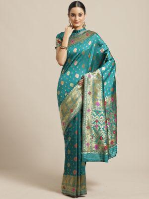 Shikara 1 Festive Wear Silk Blend Saree Collection
