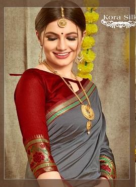 Kora Silk 1 Heavy Festive Wear Designer Saree Collection