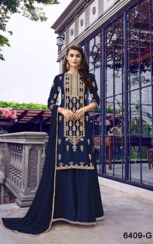 Swagat 6409 New Color Heavy Embroidered Salwar Suits