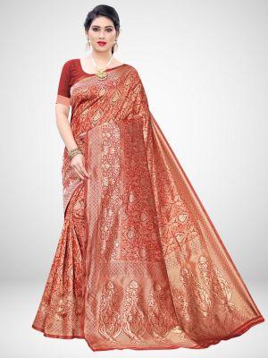 Adrika Festive Wear Silk Blend Saree Collection