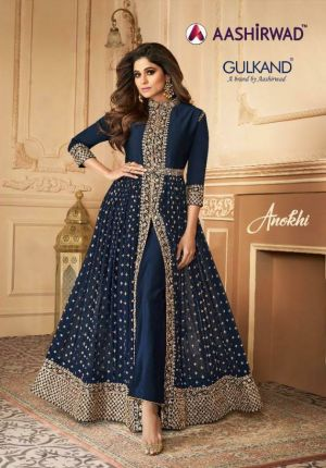 Aashirwad Anokhi Real Georgette Heavy Embroidered Salwar Suits