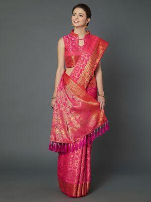 Kavya Silk Wedding Wear Silk Blend Saree Collection