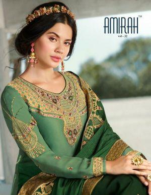 Amirah Vol 32 Heavy Satin Georgette Salwar Suits Collection