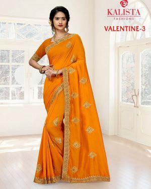Kalista Valentine 2 Heavy Vichitra Silk Embroidered Saree Collection