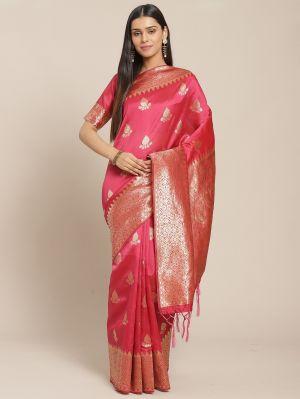 Zuri Silk Festive Wear Silk Blend Woven Saree Collection