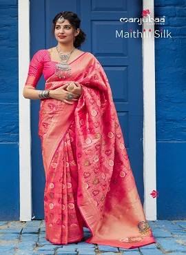 Manjuba Maithili Silk Soft Weaving Silk Saree Collection