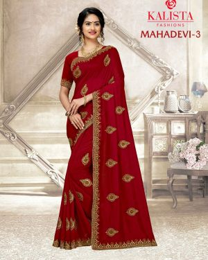 Kalista Mahadevi 3 Heavy Vichitra Silk Designer Saree Collection