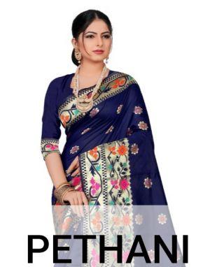 Ronisha Pethani Silk Running Wear Saree