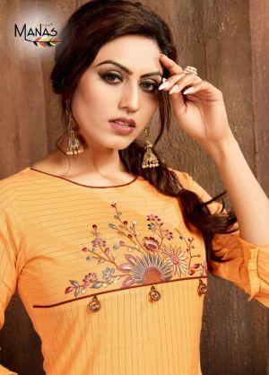 Manas Mitwa 2 Stylish Straight Cut Kurti Collection