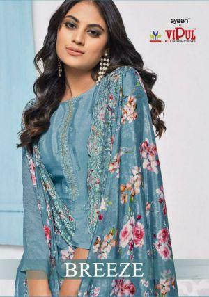 Vipul Breeza Festive Wear Designer Dress Material