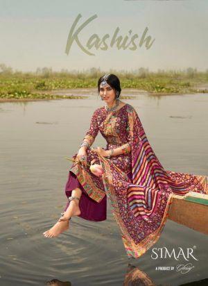 Glossy Simar Kashish Pure Viscose Muslin Dress Material
