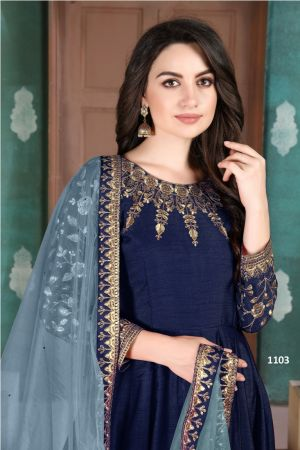 Aanaya 111 Designer Silk Slub Festive Wear Suits Collection