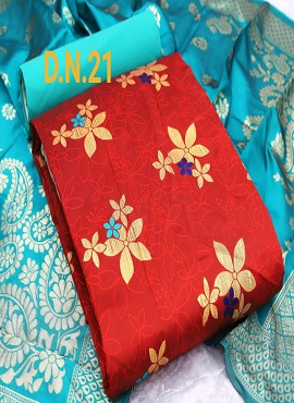 Rnx Jacquard 5 Designer Banarasi Jacquard Dress Material