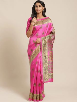 Patola Silk Casual Silk Blend Printed Saree Collection