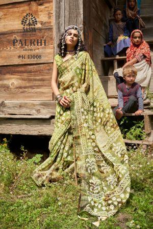 Sasya Palkhi 7 Pure Linen Digital Printed Saree Collection