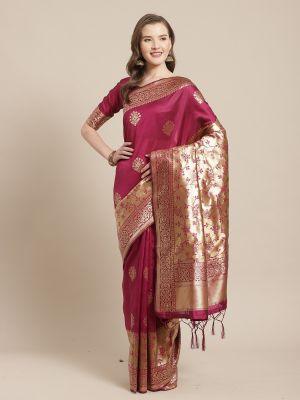 Poorva Festive Wear Silk Blend Saree Collection