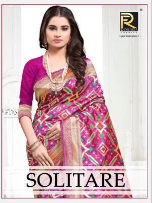 Ronisha Solitare Silk Running Wear Saree Collection