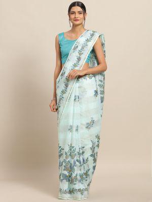 Peprika 3 Casual Wear Linen Blend Printed Saree