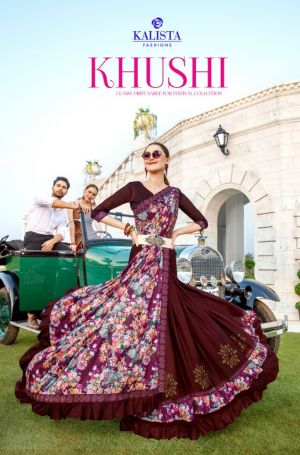 Kalista Khushi Festive Wear Vichitra Silk Saree Collection