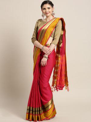 Aura 8 Casual Wear Cotton Silk Saree Collection