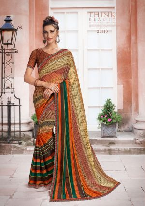 Hirva Saloni Daily Wear Georgette Printed Saree Collection