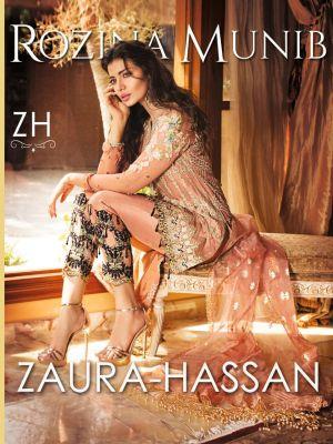 Zaura Hassan Rozina Munib Designer Pakistani Salwar Suits