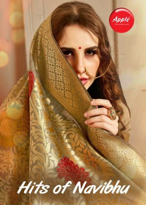 Apple Hits Of Navibhu Festive Wear Cotton Silk Solid Saree Collection