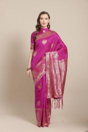 Norita Festive Wear Silk Blend Woven Saree Collection