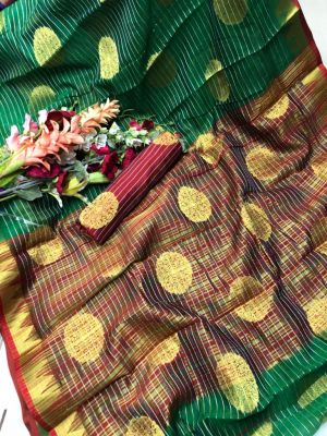 Redolence Goal Saree Chanderi Cotton Saree Collection