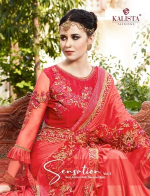 Kalista Sensation 3 Festive Wear Vichitra Silk Saree Collection