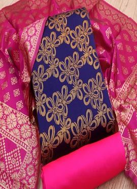 Rnx Jacquard Gold 3 Banarasi Jacquard Dress Material