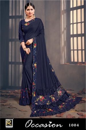 Ronisha Occasion Raffle Designer Saree