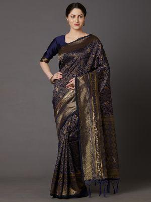 Tosh 1 Festive Wear Silk Blend Woven Saree Collection